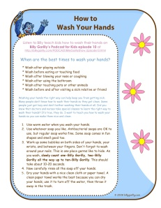 Podcast-Kids Learn How To Wash Hands
